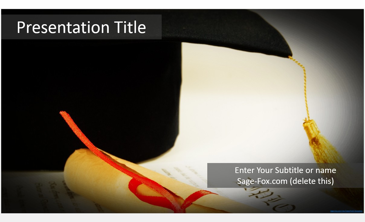 Free graduation powerpoint template 5784 sagefox powerpoint by james sager toneelgroepblik