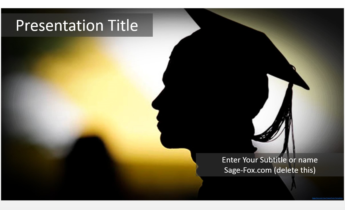 Free graduation powerpoint template 5794 sagefox powerpoint by james sager toneelgroepblik Choice Image