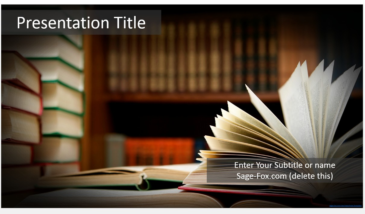 Free books powerpoint template 5825 sagefox powerpoint templates by james sager toneelgroepblik
