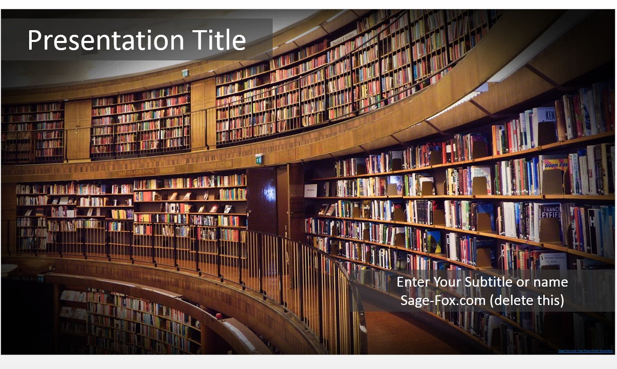 Free library powerpoint template 5440 sagefox powerpoint templates by james sager toneelgroepblik Choice Image