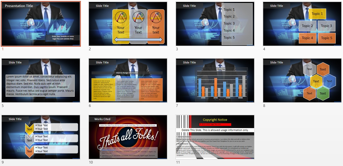 Free business technology powerpoint 5865 sagefox free powerpoint by james sager toneelgroepblik Choice Image