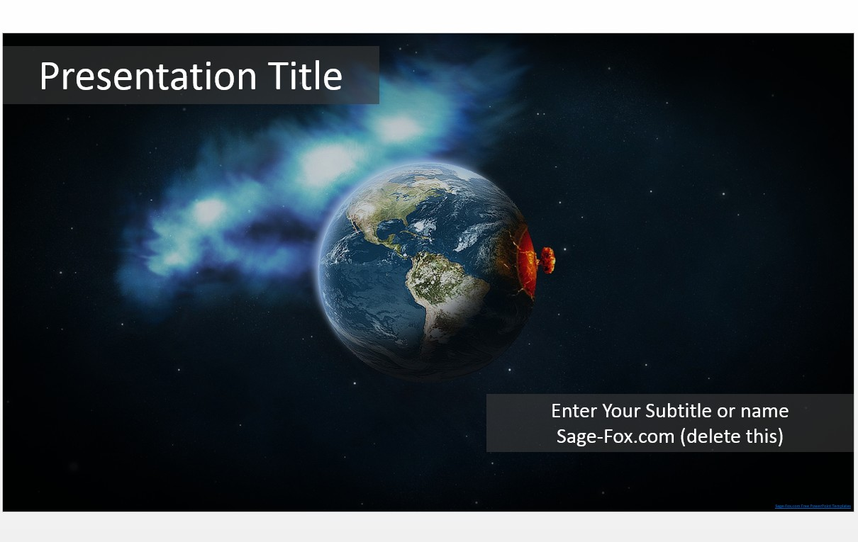 Free nuclear earth powerpoint template 6006 sagefox powerpoint by james sager toneelgroepblik Image collections