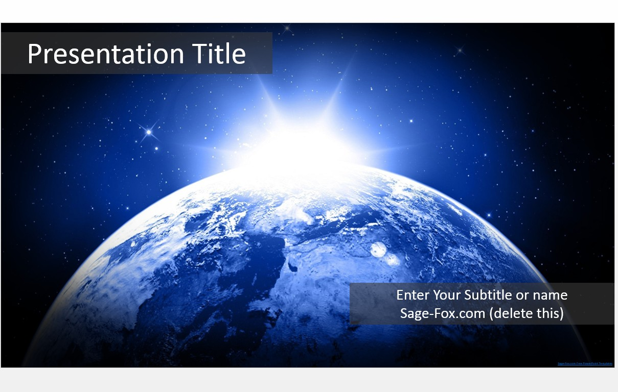 Free earth space stars powerpoint template 6026 sagefox by james sager toneelgroepblik Image collections