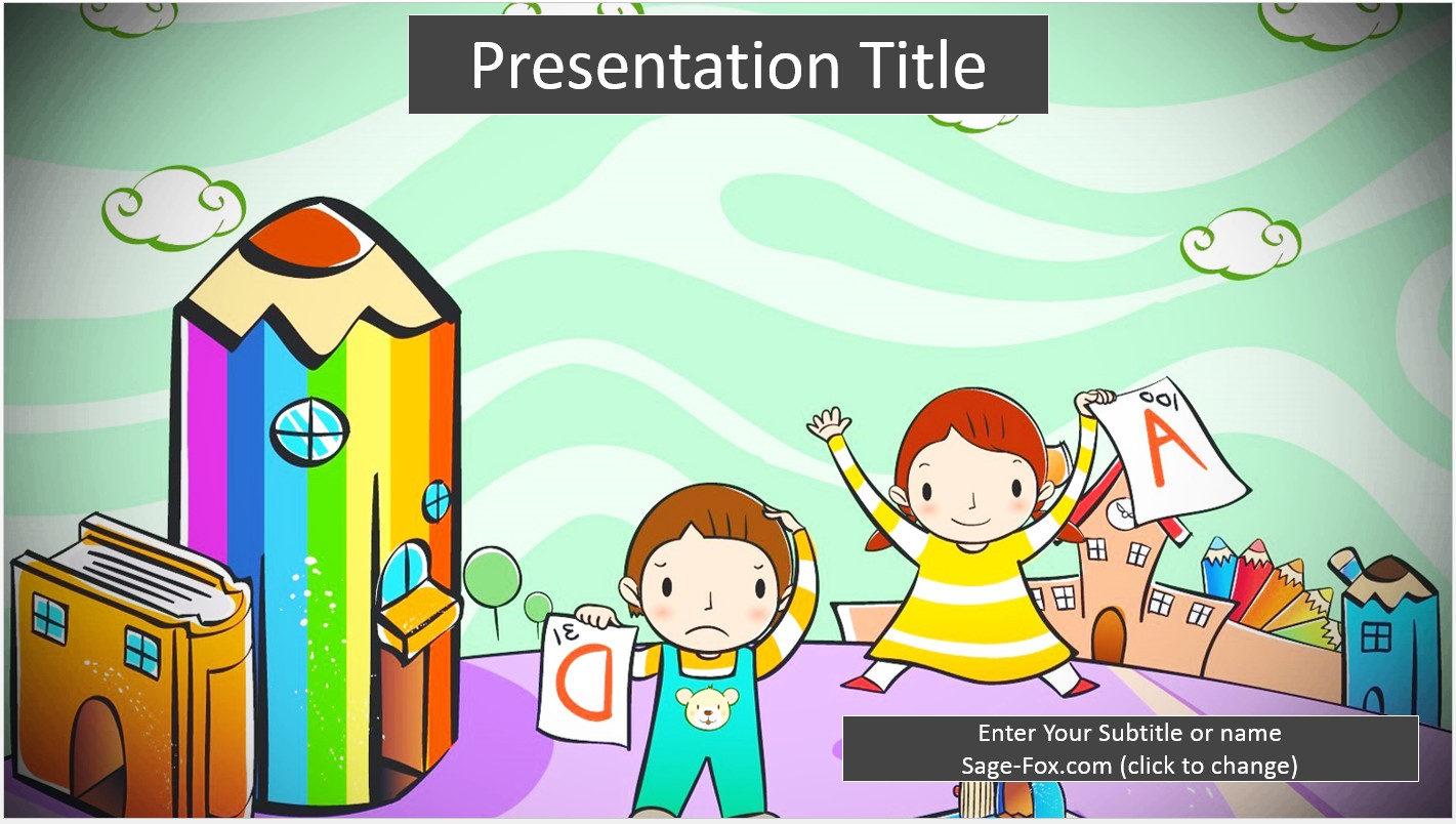Free kids education school powerpoint slide 6786 sagefox by james sager alramifo Image collections