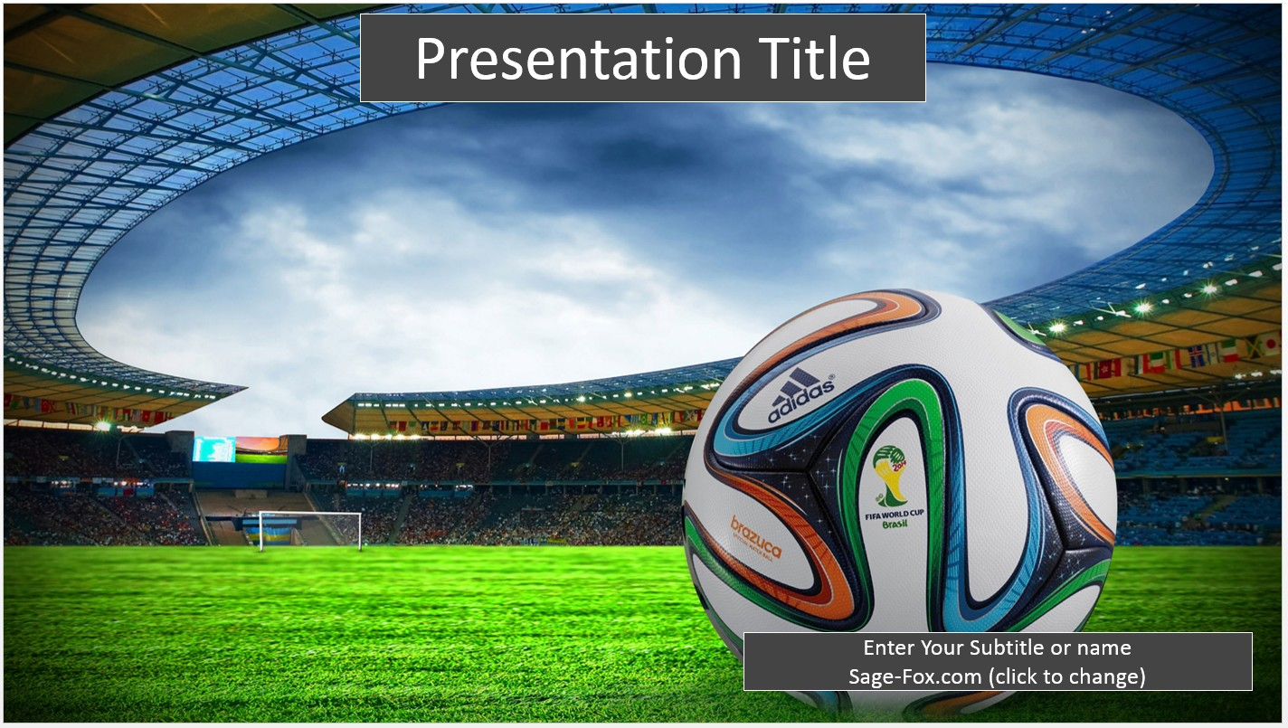 Soccer Ppt Template Maggilocustdesignco - Awesome football powerpoint template concept