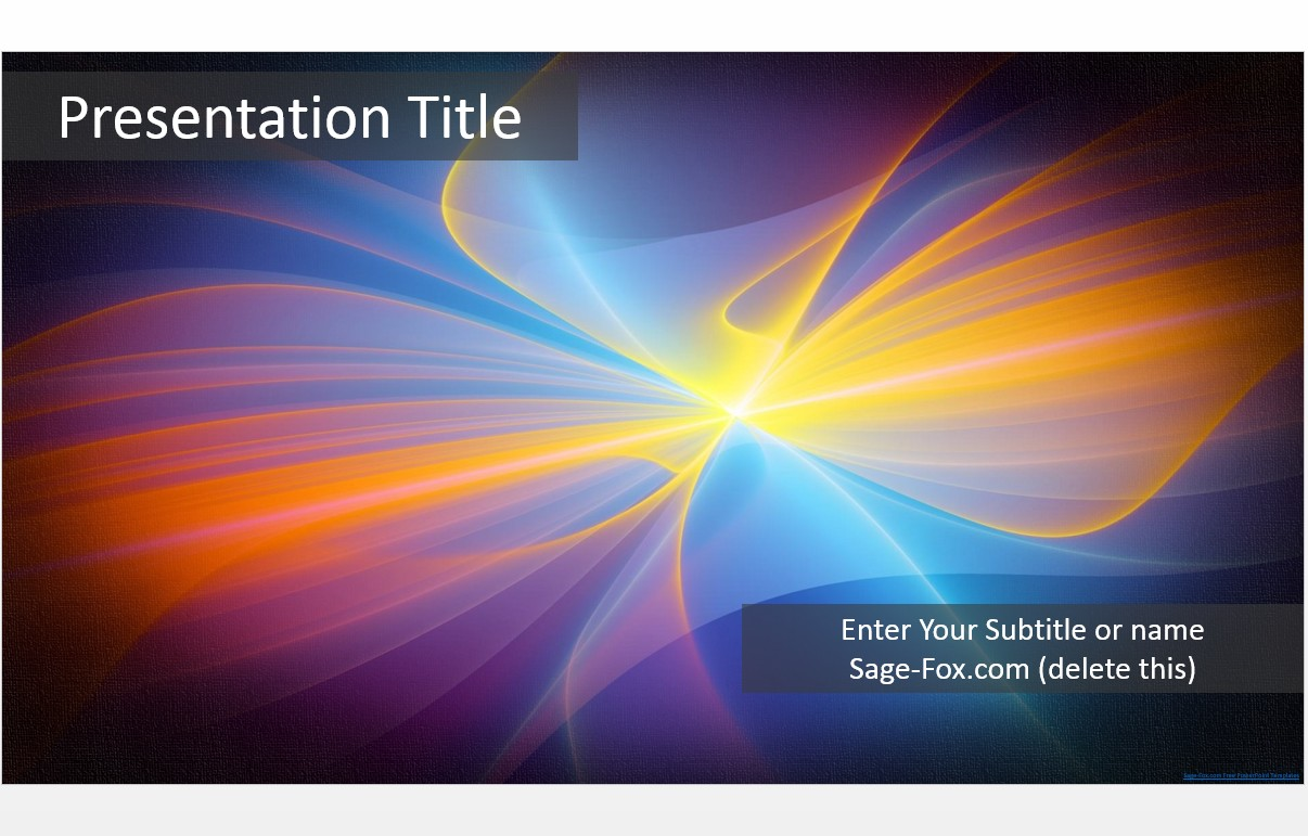 Free Abstract Colorful PowerPoint Template #6183 | SageFox ...
