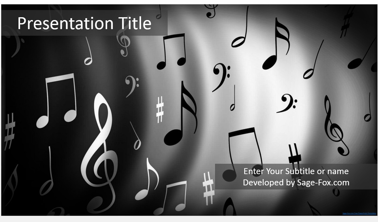Free music notes powerpoint 5354 sagefox powerpoint templates by james sager toneelgroepblik Images