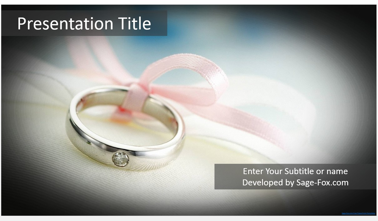 Wonderful powerpoint templates wedding images example resume and free wedding ring powerpoint 5364 sagefox powerpoint templates toneelgroepblik Images