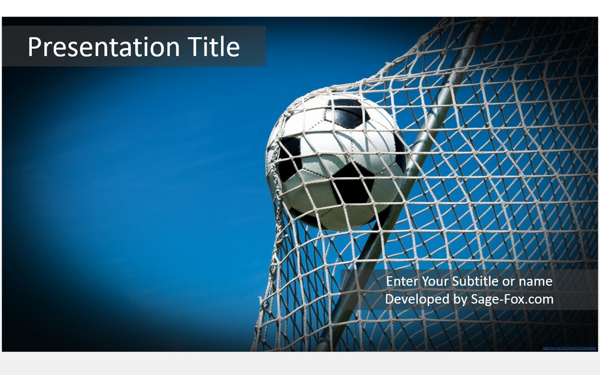 Free soccer ball powerpoint template 5259 sagefox powerpoint by james sager toneelgroepblik Images