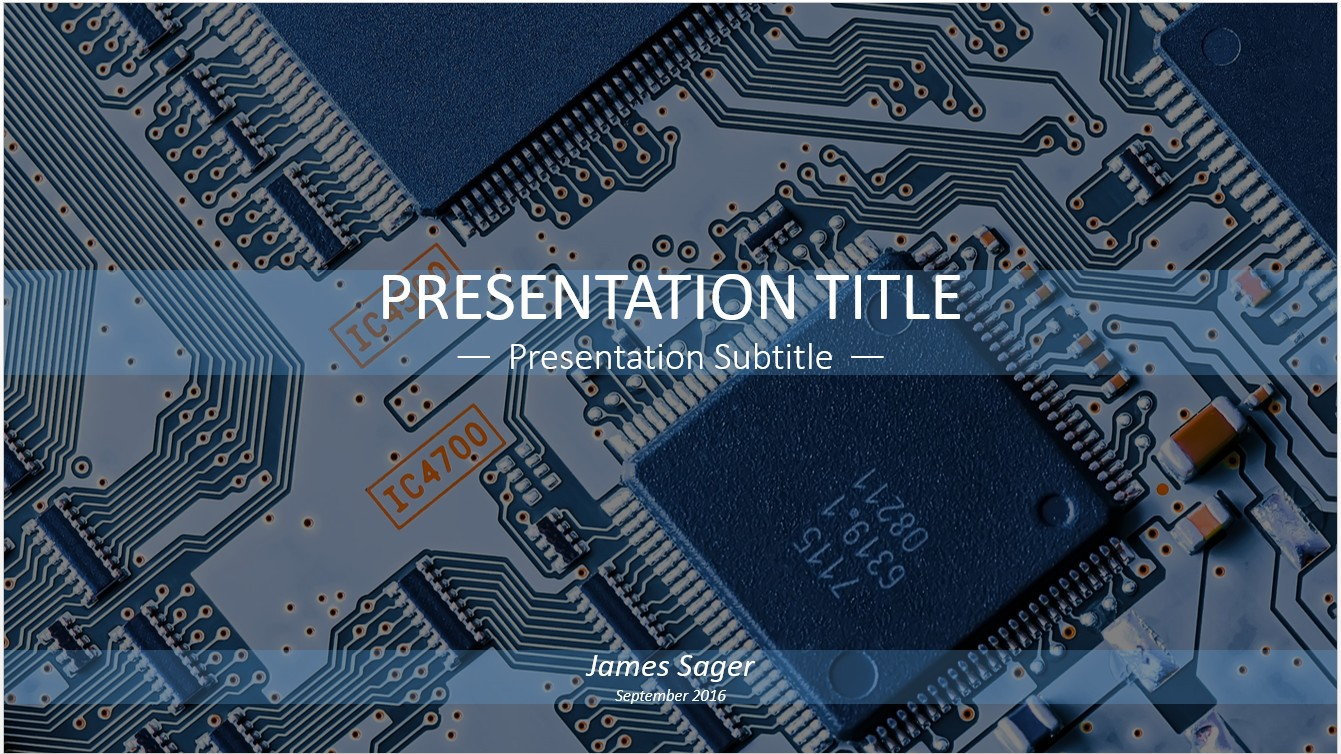 Free Circuit Board PowerPoint Template #11157 | SageFox PowerPoint ...