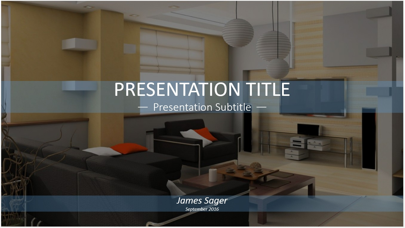Free interior design powerpoint template 11202 sagefox powerpoint templates for Interior design images free download