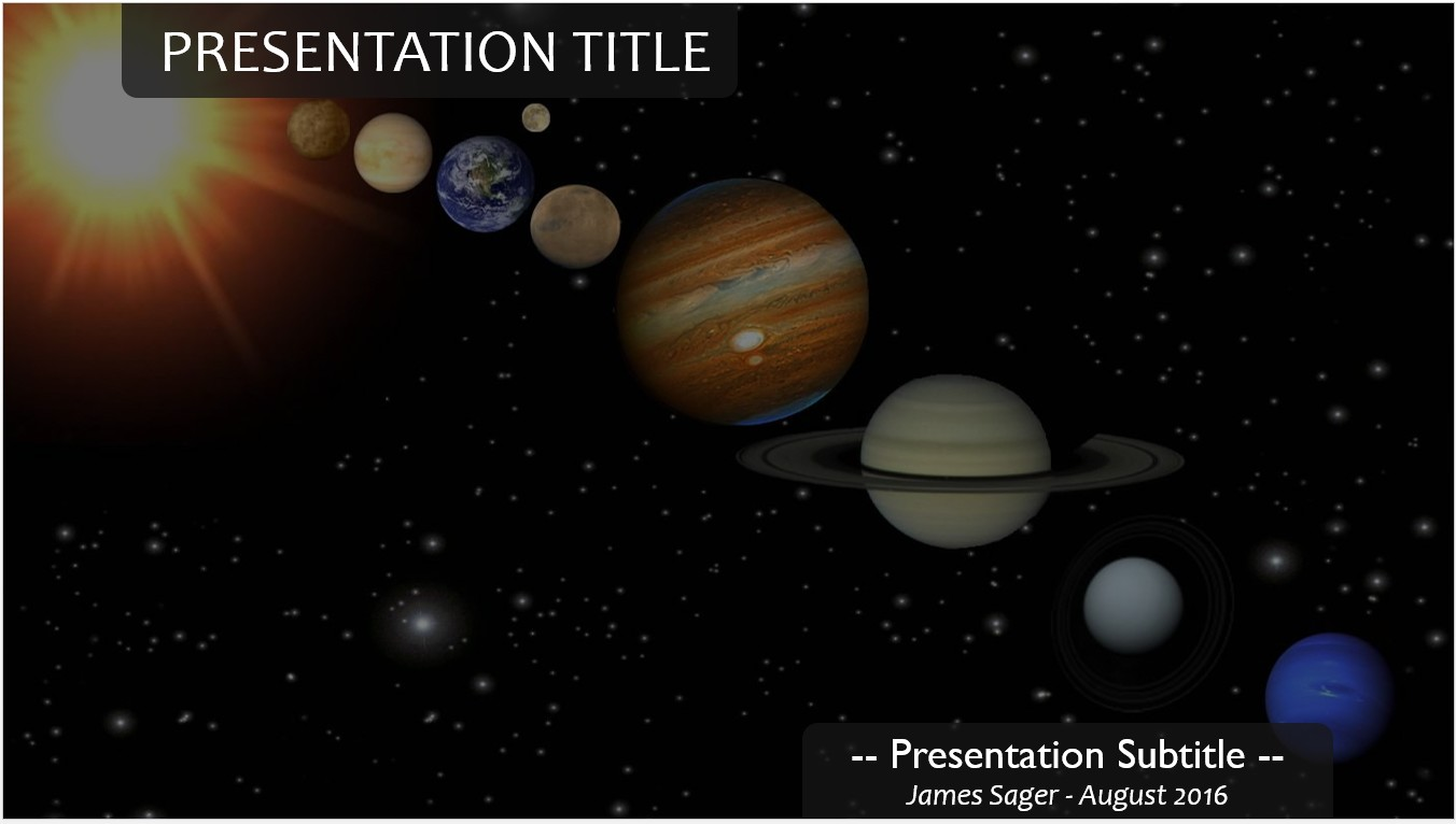 Free planets powerpoint template 11207 sagefox powerpoint templates by james sager toneelgroepblik Images