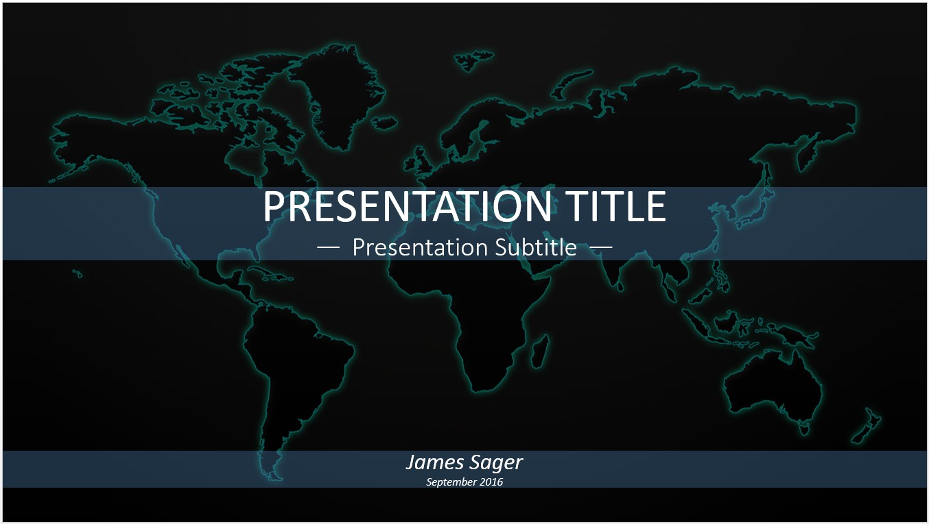 Free world map powerpoint template 11253 sagefox powerpoint by james sager gumiabroncs Image collections