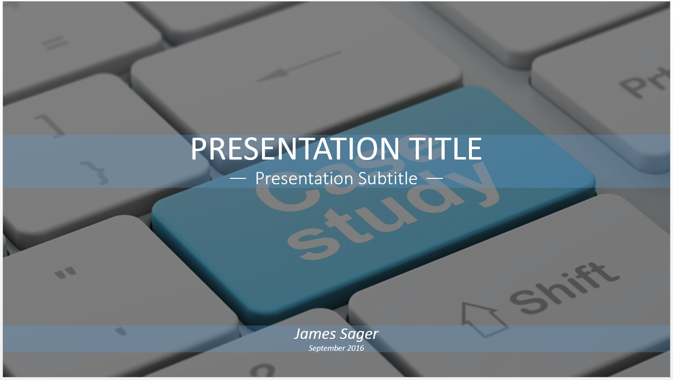 case study powerpoint template
