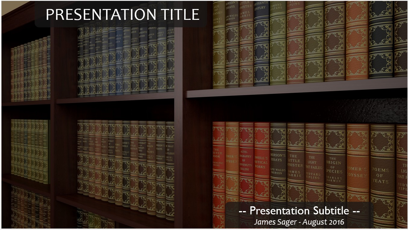 Free library books powerpoint template 11167 sagefox powerpoint please share this free powerpoint template toneelgroepblik Images