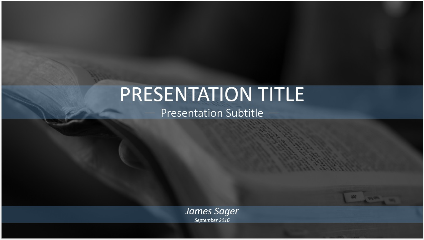 Free reading the bible powerpoint template 11338 sagefox by james sager toneelgroepblik Choice Image