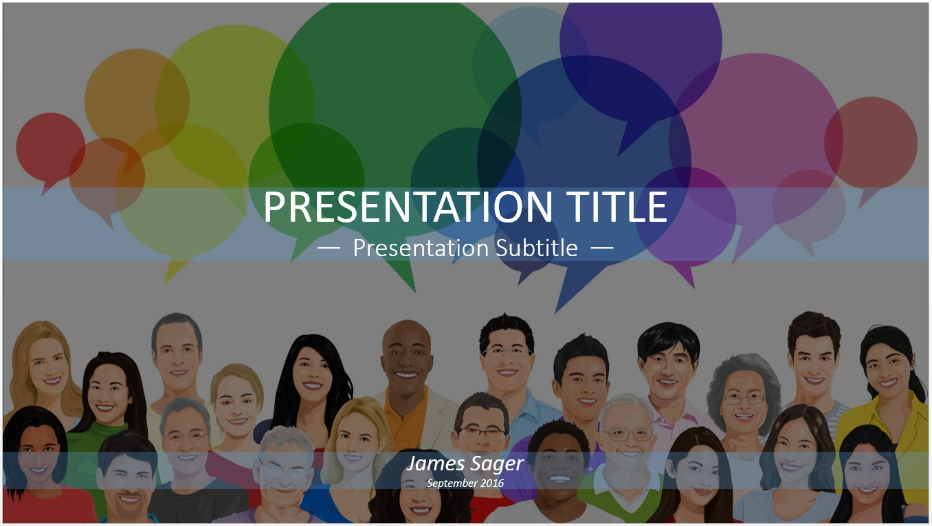 Free Social Media PowerPoint Template SageFox Free - Free social media powerpoint templates