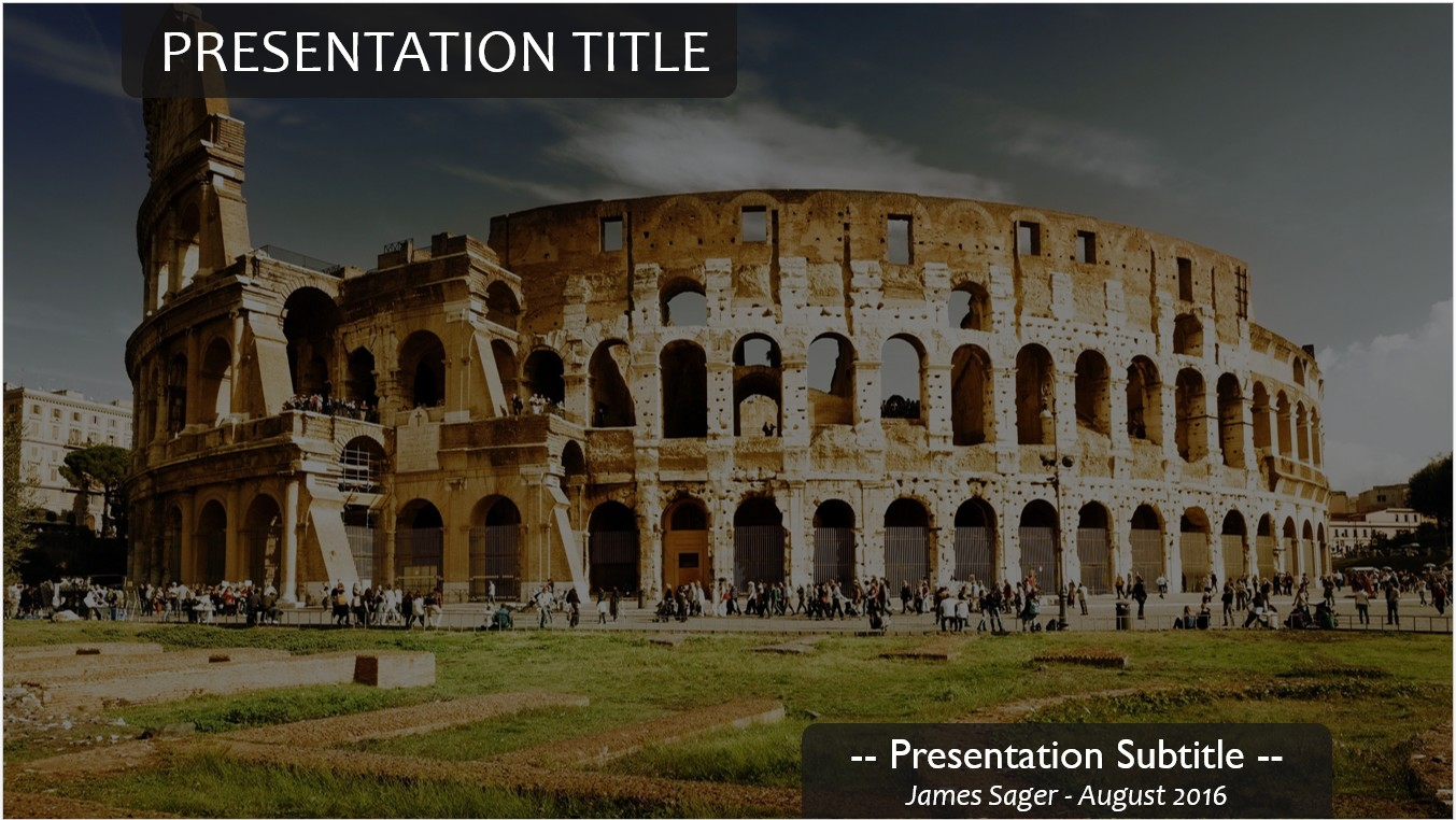 Free colosseum powerpoint template 11389 sagefox powerpoint by james sager toneelgroepblik Image collections