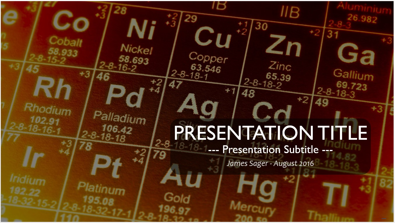 Free periodic table of elements powerpoint 11479 sagefox free by james sager urtaz Choice Image