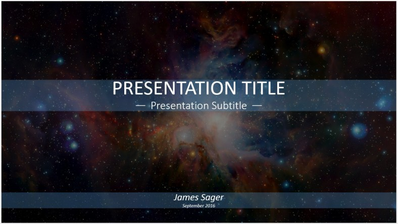 free galaxy powerpoint template 11509 sagefox free powerpoint templates