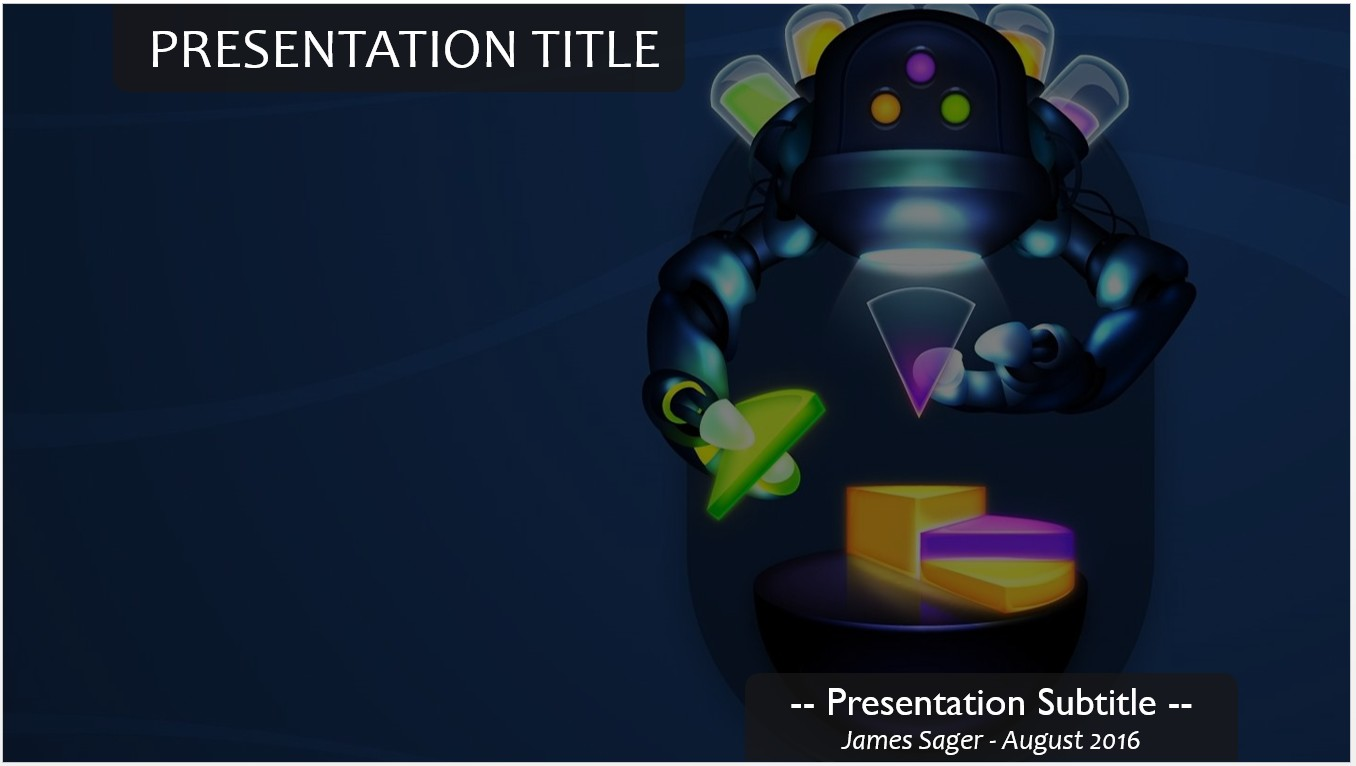 Free robot powerpoint template 11192 sagefox powerpoint templates by james sager toneelgroepblik Images