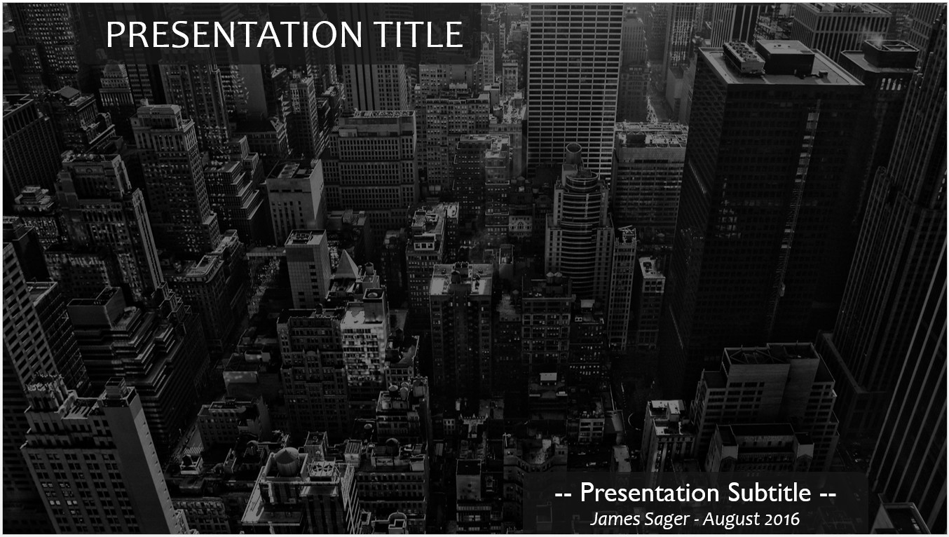 Free city powerpoint template 11604 sagefox powerpoint templates by james sager toneelgroepblik Choice Image
