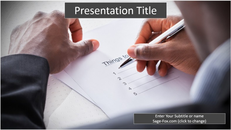 Free writing goals powerpoint template 6413 sagefox free by james sager toneelgroepblik Choice Image