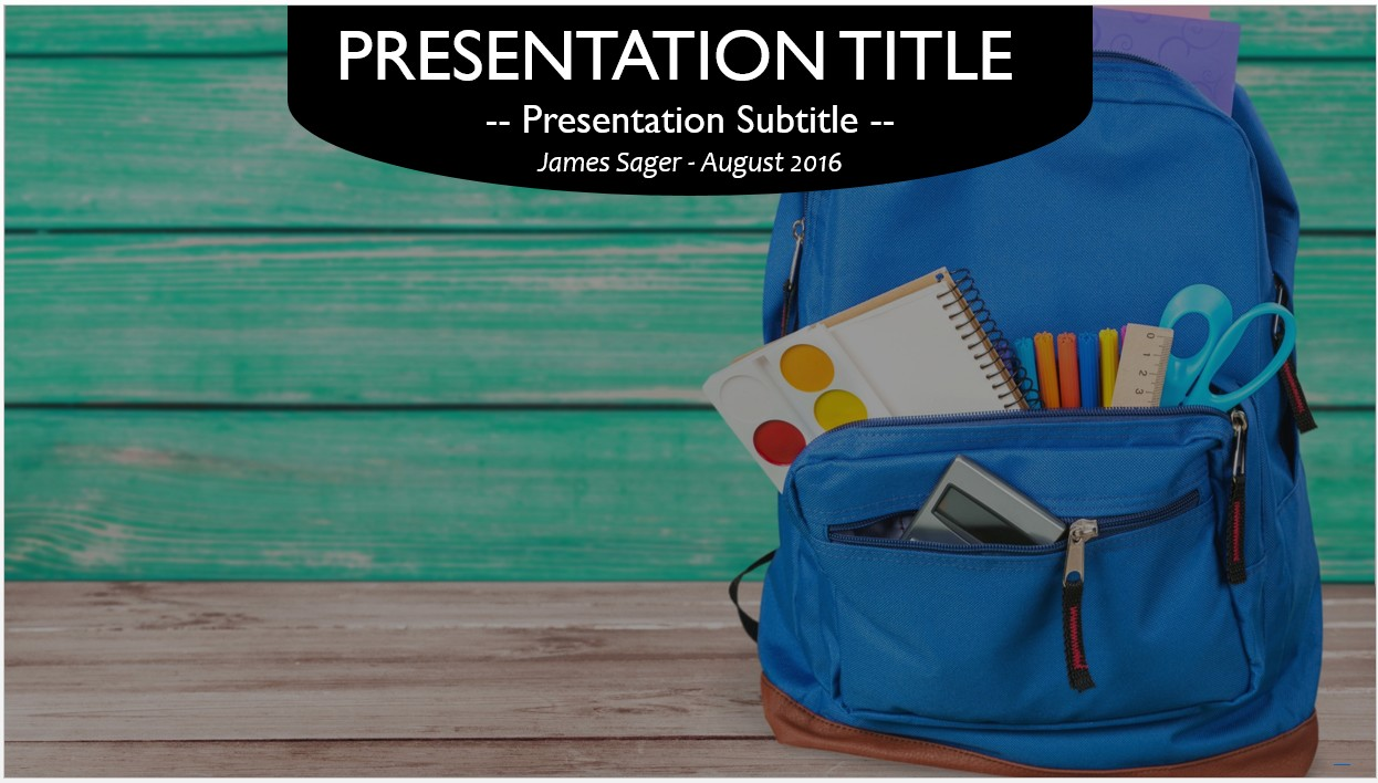 Free backpack with school supplies powerpoint template 10560 please share this free powerpoint template toneelgroepblik Images