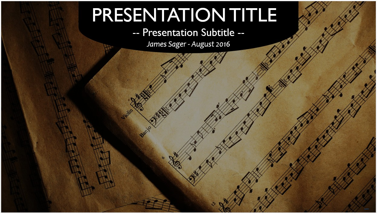 Free Music Notes PowerPoint Template #10469 | SageFox Free ...