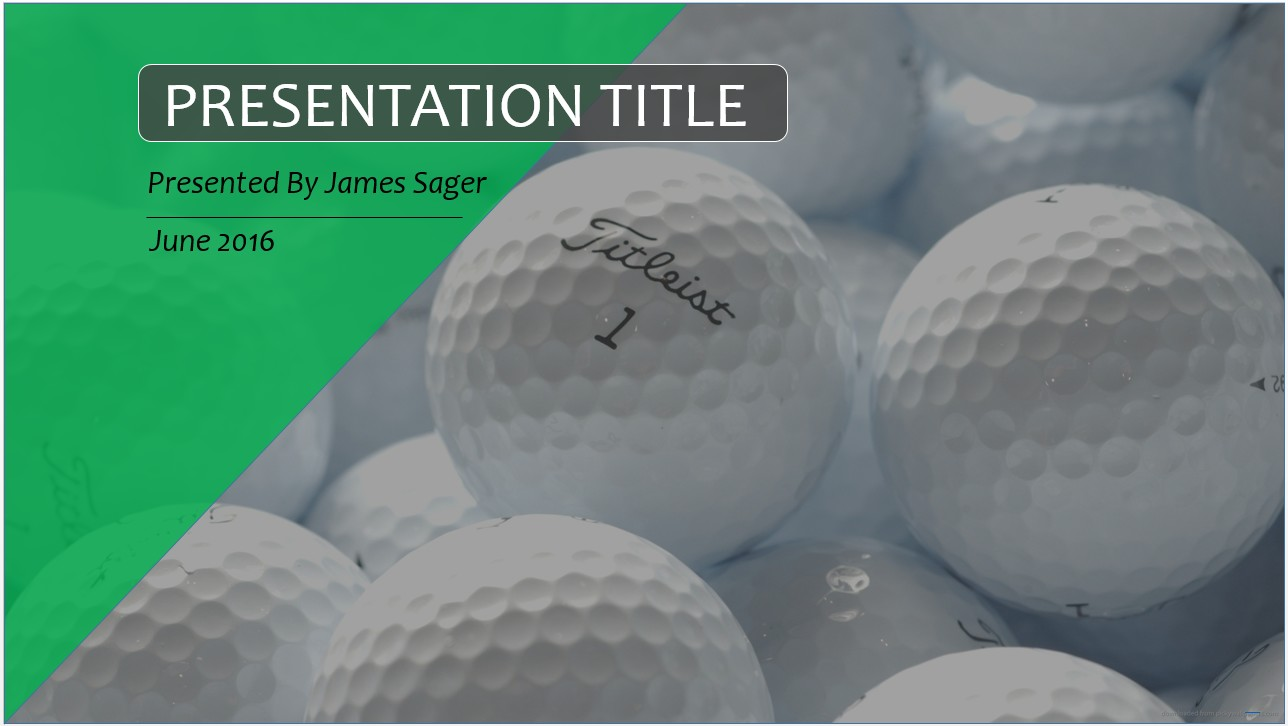 Free golf balls powerpoint 10965 sagefox powerpoint templates by james sager toneelgroepblik Choice Image