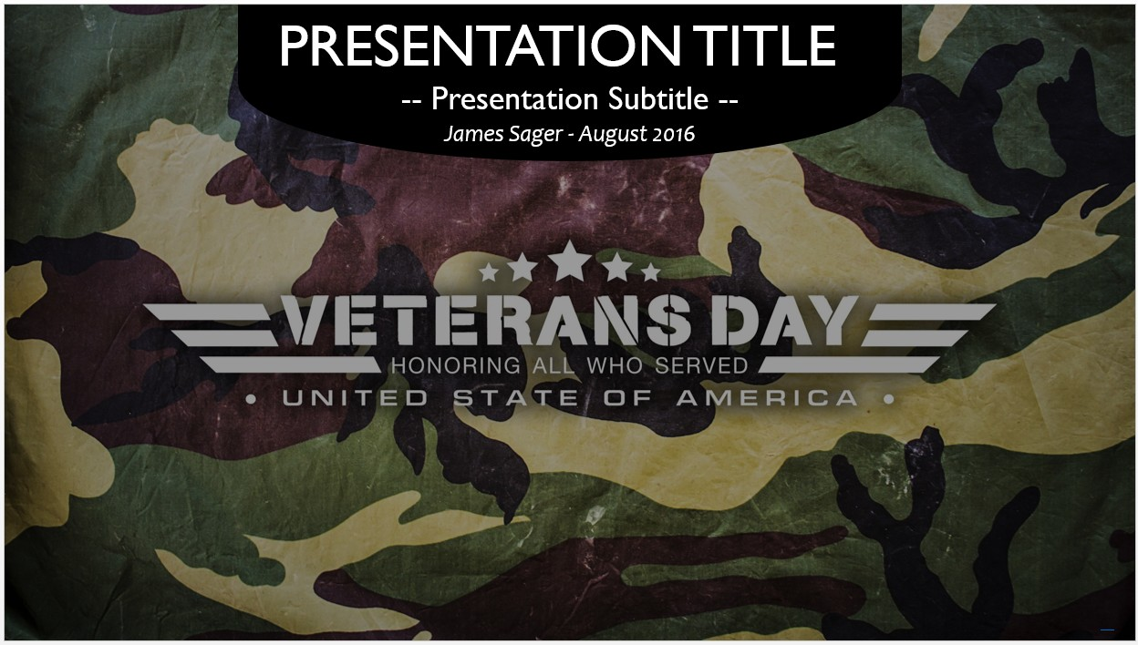 Free veterans day powerpoint 66276 sagefox powerpoint templates veterans day powerpoint template toneelgroepblik Image collections