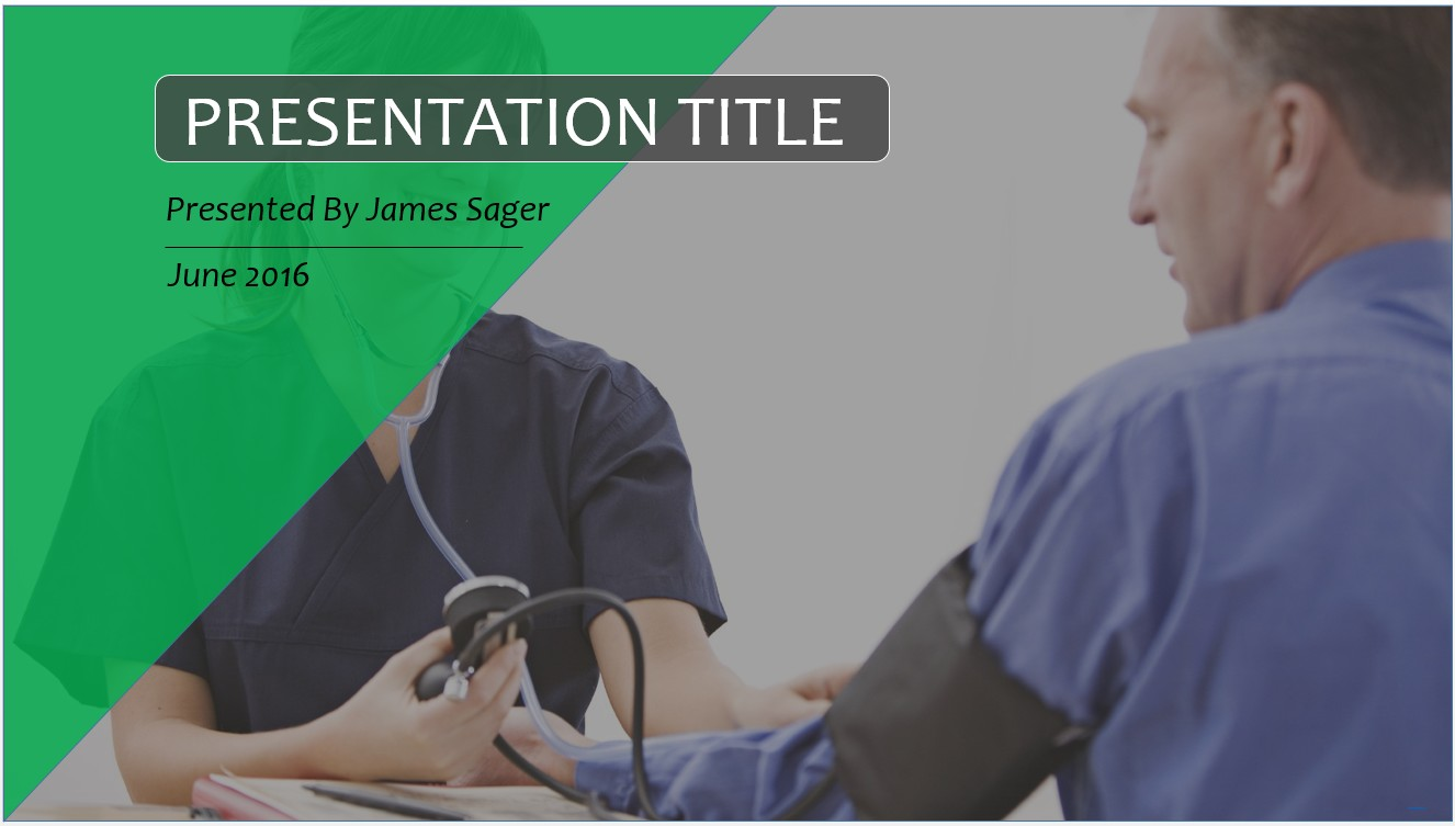 Free nurse and patient powerpoint template 10107 sagefox by james sager alramifo Gallery