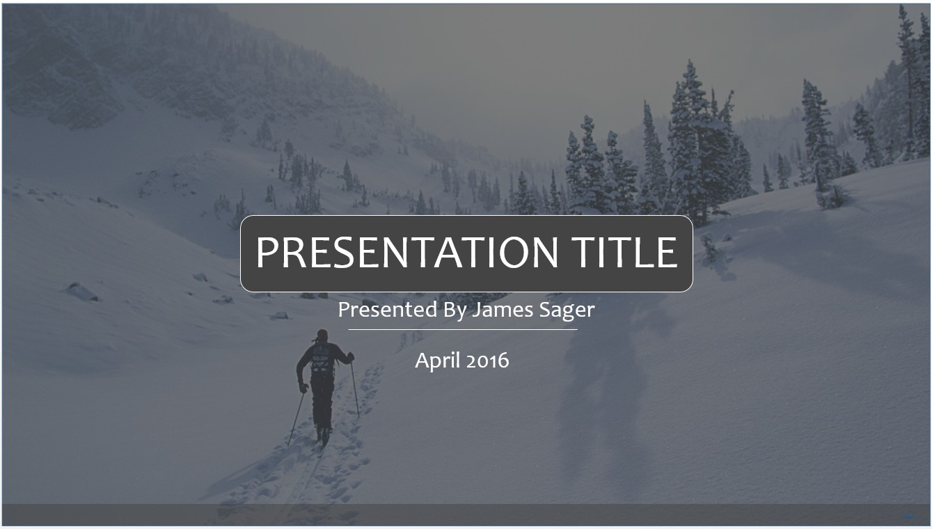 Free skiing powerpoint template 10163 sagefox powerpoint templates by james sager toneelgroepblik Image collections