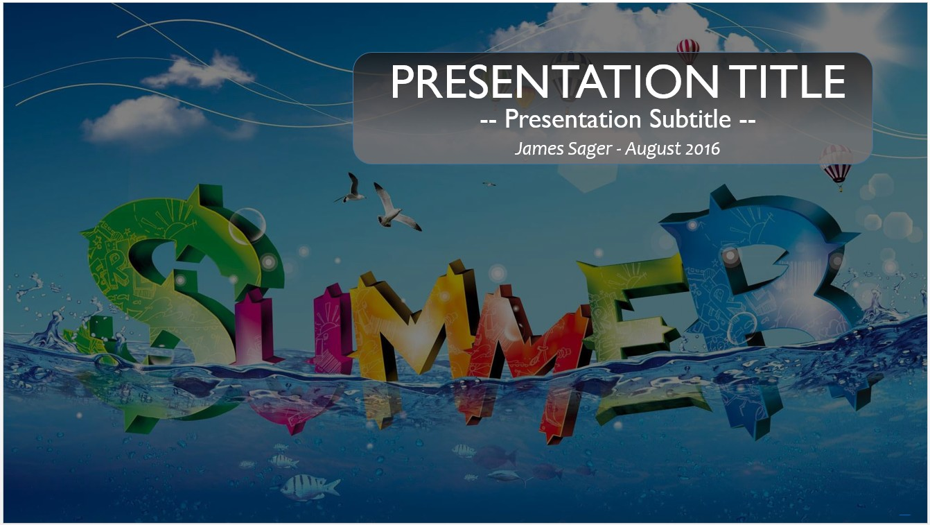 free summer powerpoint template 10203 sagefox