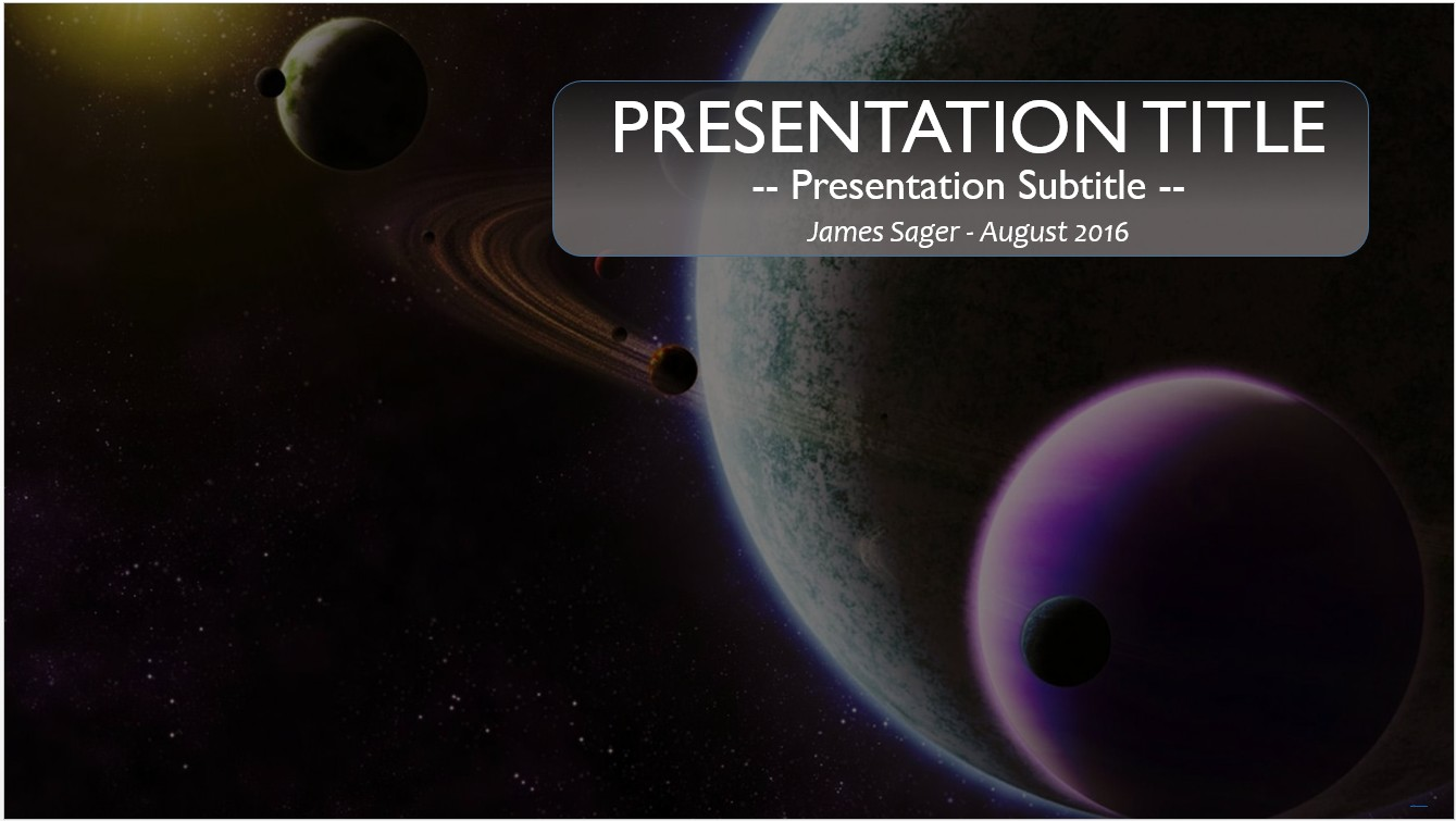 Free space powerpoint template 10243 sagefox powerpoint templates by james sager toneelgroepblik Gallery