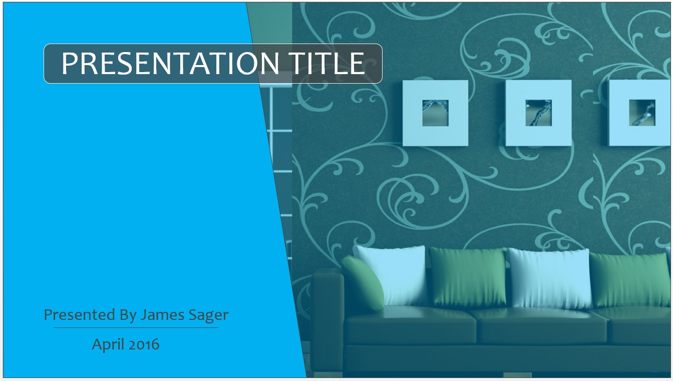Free Interior Design PowerPoint Template 10303 SageFox PowerPoint
