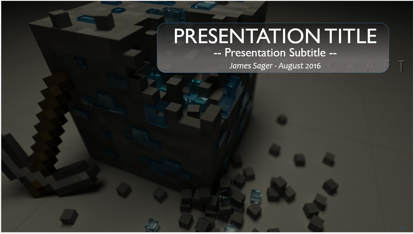 Free minecraft powerpoint template 10082 sagefox powerpoint by james sager toneelgroepblik Choice Image