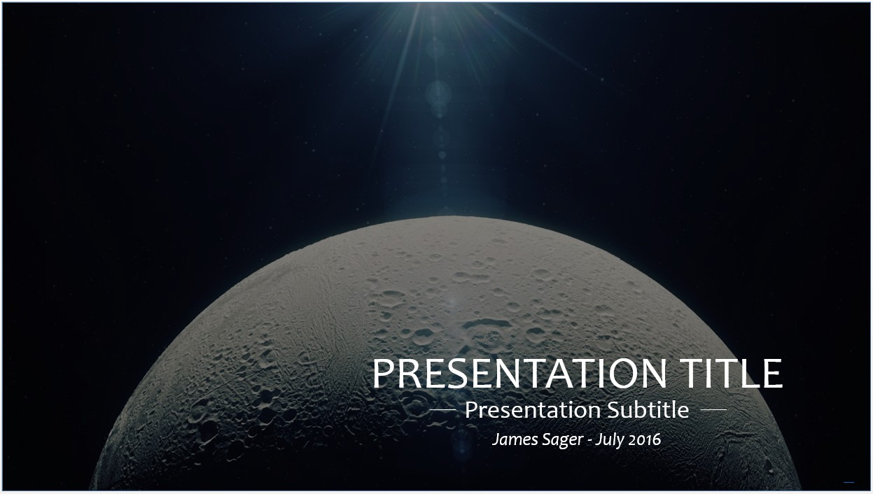 Free moon space powerpoint template 10595 sagefox powerpoint by james sager toneelgroepblik Gallery
