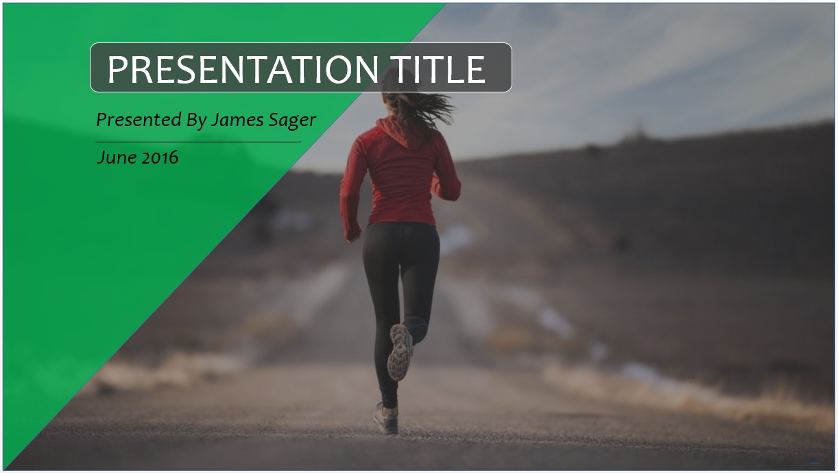 Free jogging powerpoint template 10630 sagefox powerpoint templates by james sager toneelgroepblik Image collections