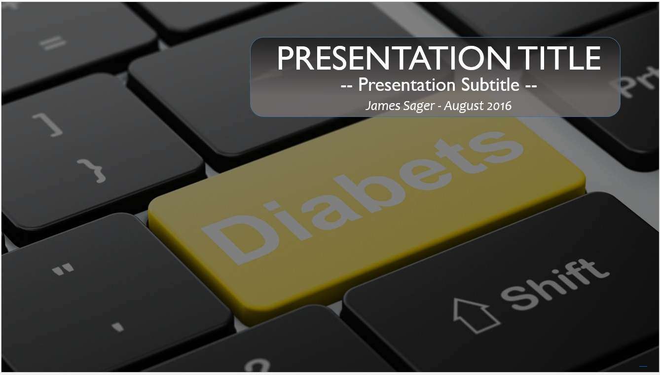 Free diabetes powerpoint template 10097 sagefox powerpoint templates by james sager toneelgroepblik Image collections
