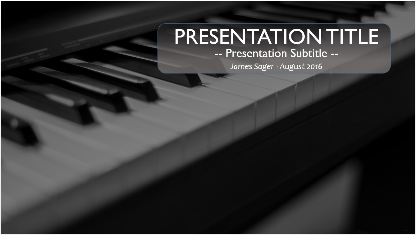 free piano powerpoint template 10102 sagefox powerpoint templates. Black Bedroom Furniture Sets. Home Design Ideas