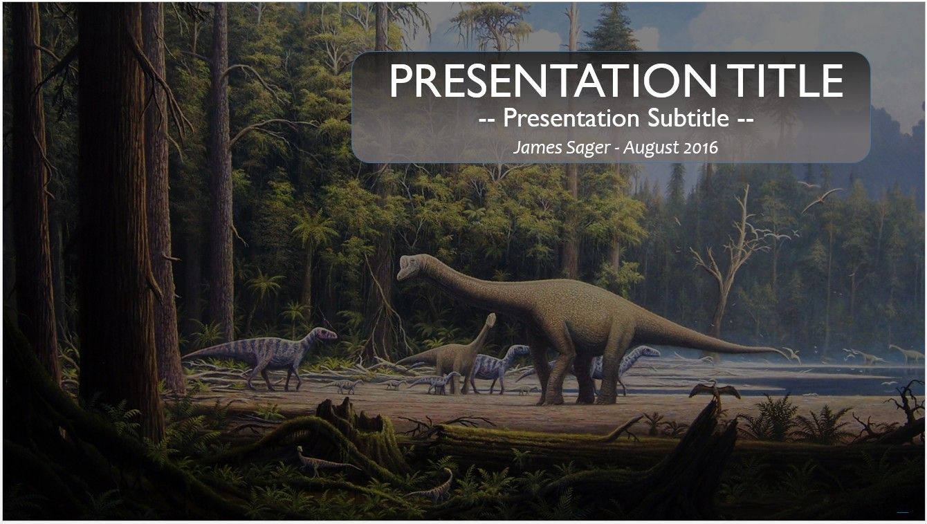 Free Dinosaurs PowerPoint Template #10394 | SageFox PowerPoint ...