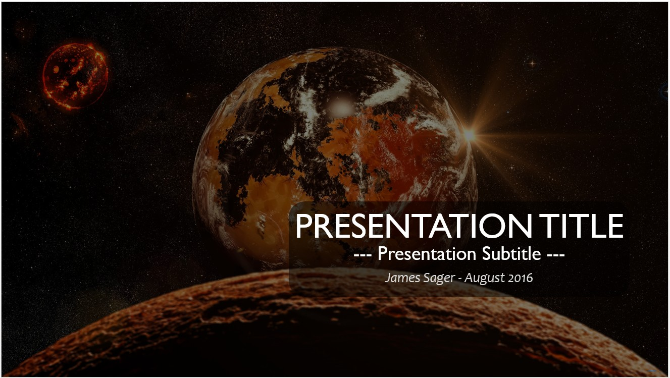 Free fantasy space powerpoint template 10419 sagefox powerpoint by james sager toneelgroepblik Gallery