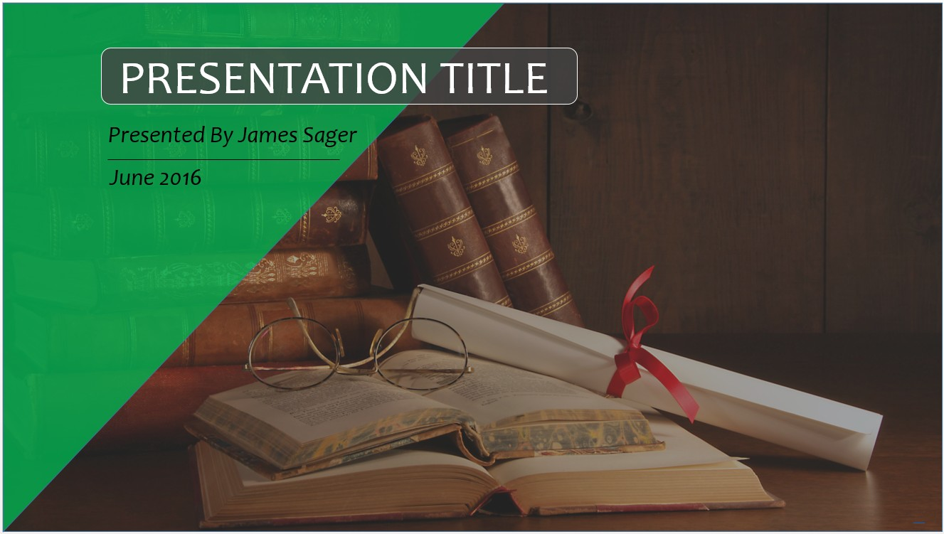 Free old books and diploma powerpoint template 10444 sagefox by james sager toneelgroepblik Gallery
