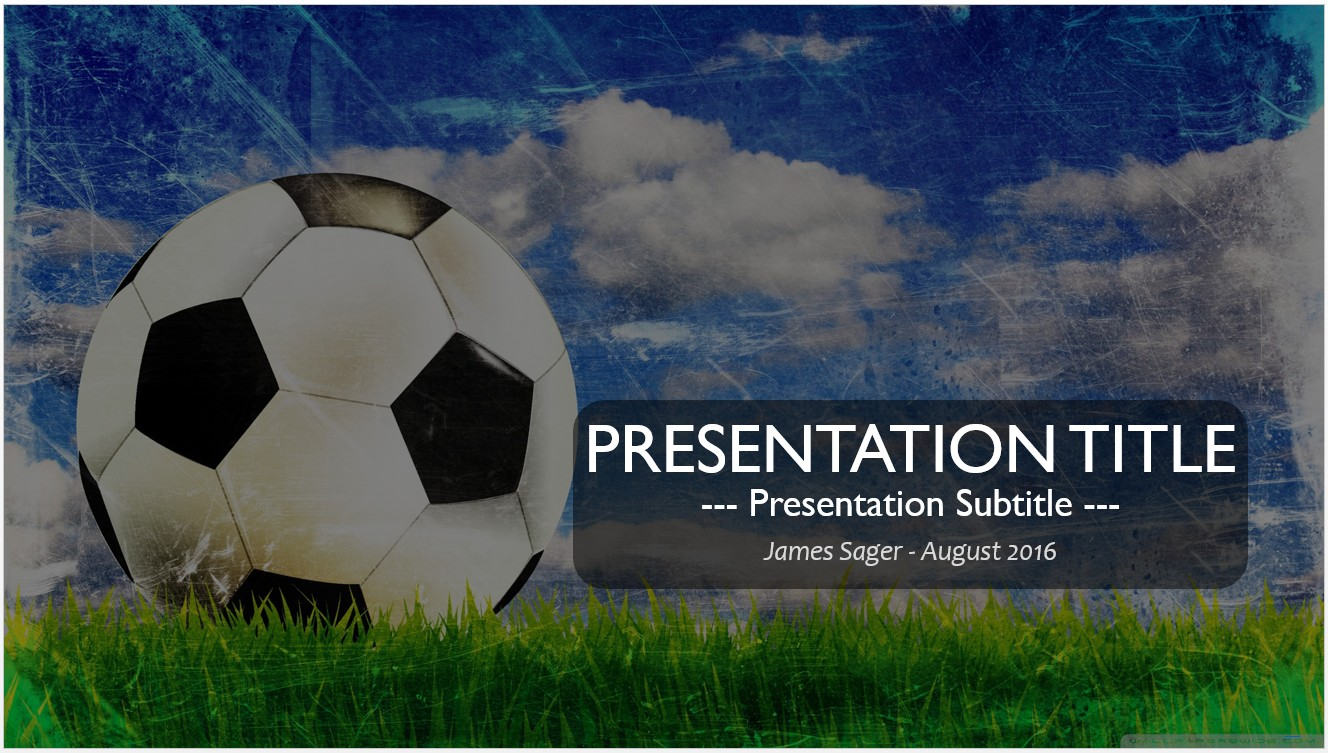Free soccer ball powerpoint template 10449 sagefox powerpoint by james sager toneelgroepblik Choice Image
