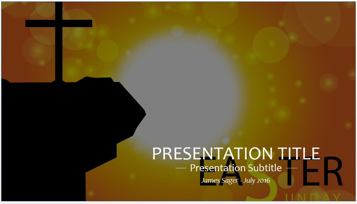 Free easter sunday powerpoint template 8703 sagefox powerpoint by james sager toneelgroepblik Choice Image