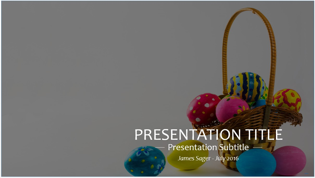 Free easter powerpoint template 8607 sagefox powerpoint templates by james sager toneelgroepblik Choice Image