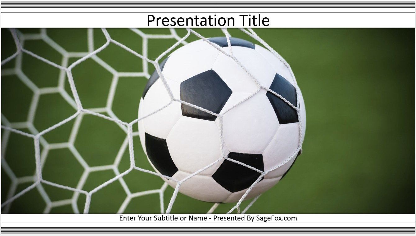 Free soccer ball powerpoint template 6964 sagefox free powerpoint by james sager toneelgroepblik Choice Image