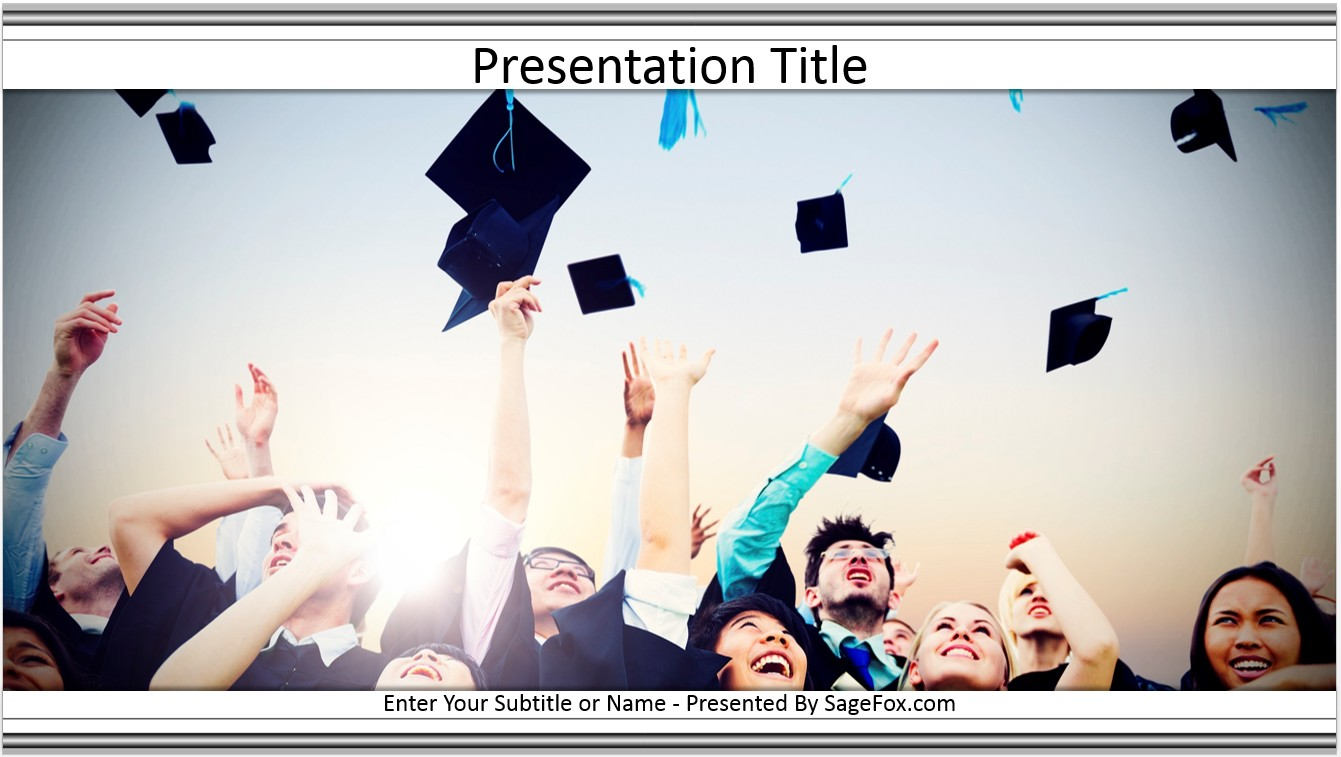Free graduation powerpoint template 6994 sagefox powerpoint by james sager toneelgroepblik