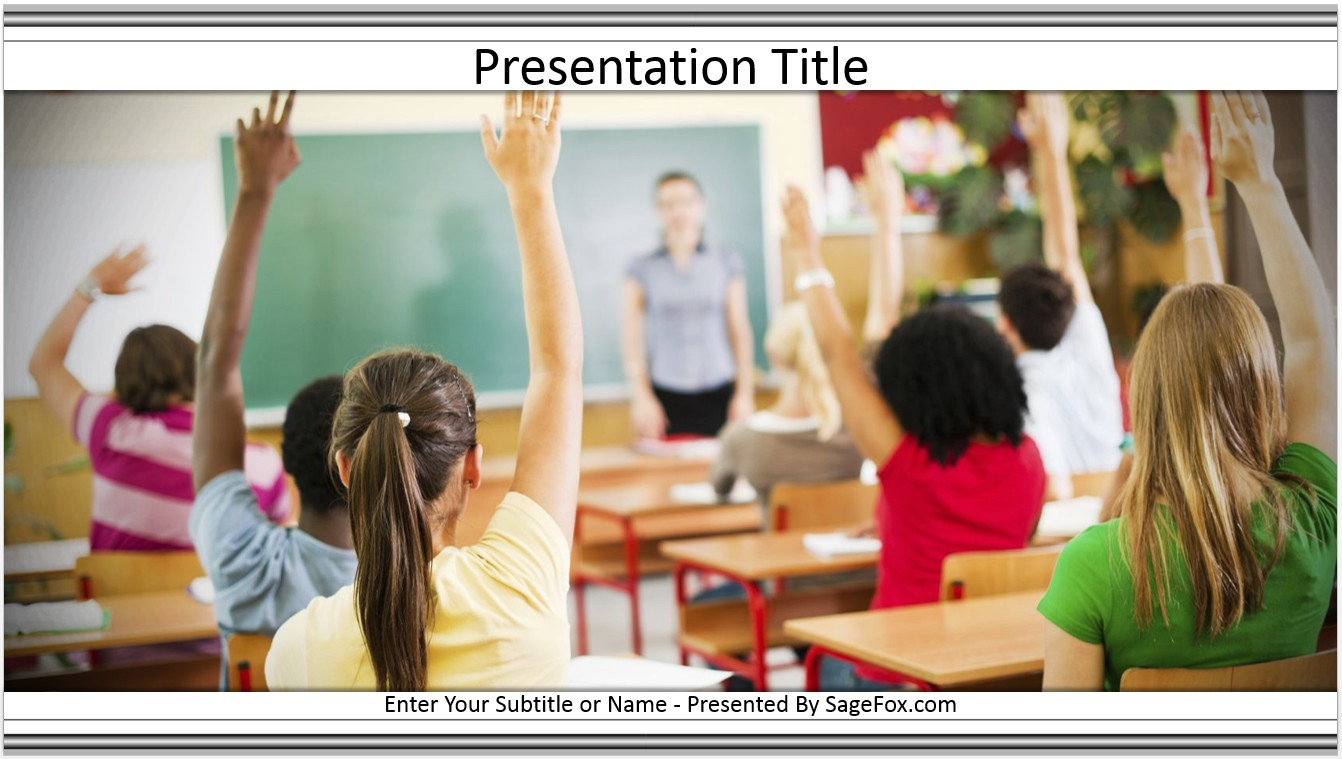 Free classroom powerpoint template 6874 sagefox powerpoint templates by james sager toneelgroepblik Image collections